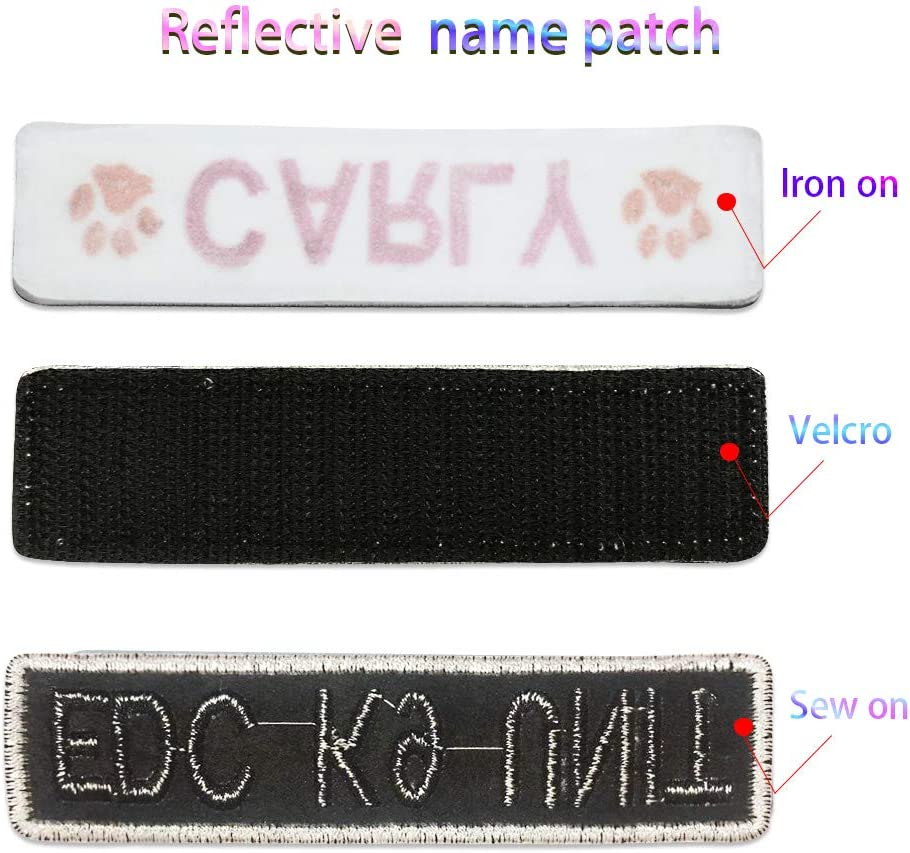 EVERETT  USED EMBROIDERED  SEW ON NAME PATCH TAG WHITE ON DARK BLUE