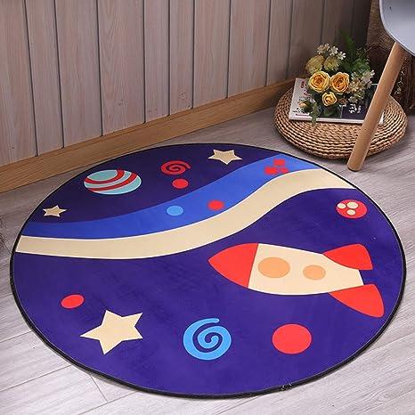 Round Plush Playhouse Tent Floor Cushion Carpet Activity Mat Toy Pink 100cm