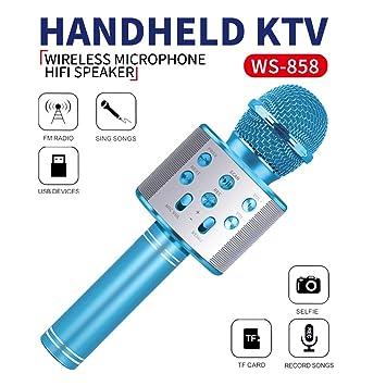 Wiwi Micrófono inalámbrico de Karaoke Bluetooth para niños