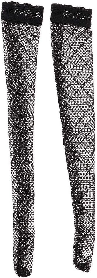 sharprepublic Chaussettes De Bas De Poup/ée 1//6 pour 12inch Phicen Kumik Figurines F/éminines Noires