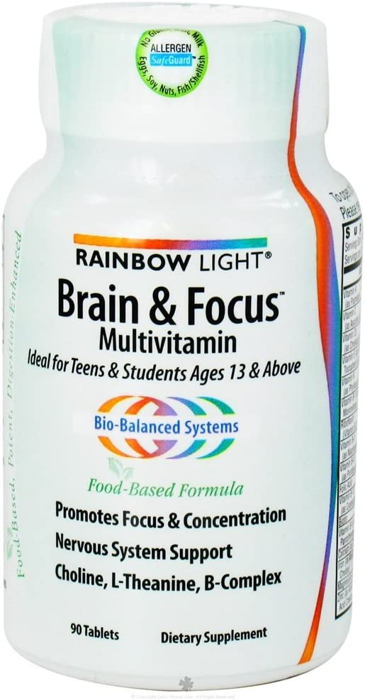 Rainbow Light Multivitamin Brain Focus, 90 tabs, 2-Pack