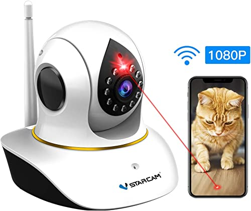 Pet Camera, VSTARCAM Dog Camera with Laser Wireless Cat Camera 1080P Baby Monitor Camera with 2 Way Audio, Night Vision Sound Motion Alerts, APP Remote Control Home Security Camera for Pet Baby