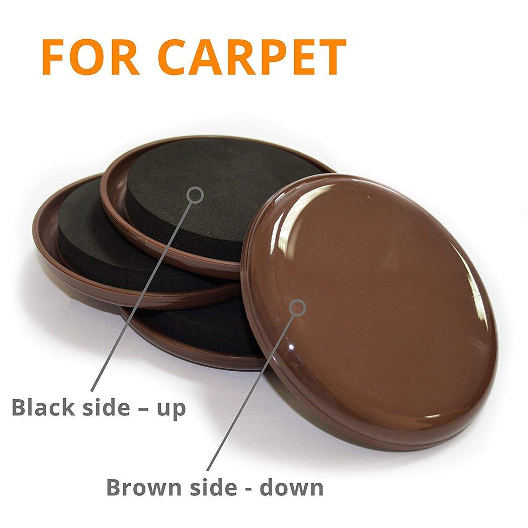 Ezprotekt madera dura y superficie dura Protectores de suelo para alfombras color marr/ón 16 unidades