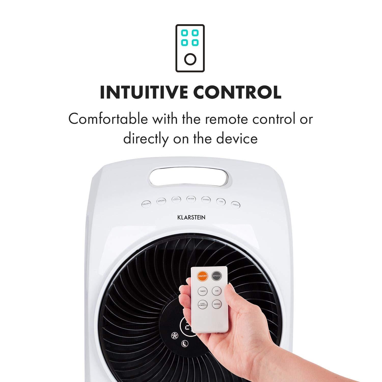 8h-Timer Ventilator wei/ß Cool Breeze TACT-Ionisator und Luftbefeuchter 110 Watt 4-in-1-Ger/ät: Luftk/ühler Klarstein Rotator Luftk/ühler 3 Windgeschwindigkeiten