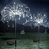 Outdoor Solar Fireworks Decorative Lights, Starburst String Light, HONCHE 120LED Waterproof Garden Landscape Lights with 8 Mo