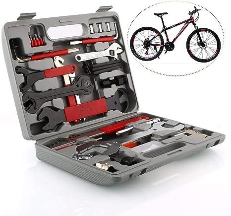 LIVELOVELAUGH Las Herramientas Profesionales de Mantenimiento de Bicicletas 44 Piezas de Bicicletas Reparación de Herramientas Set Kit Multifuncional con la Caja de Todos los Tipos de Bicicletas: Amazon.es: Deportes y aire libre