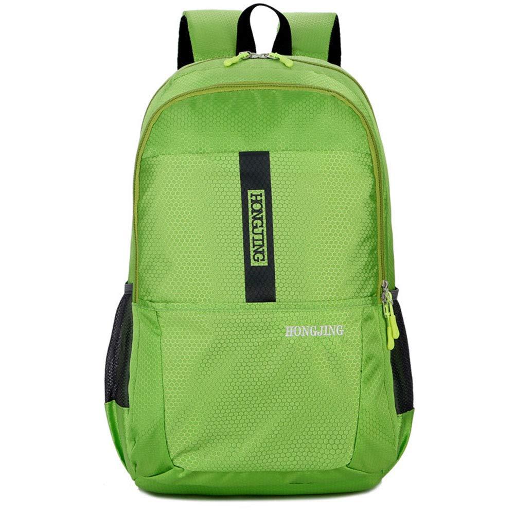 Green 304617cm Waterproof Outdoor Hiking Backpack Leisure Double Shoulder Bag Student Sports Bag Travel Backpack for Men & Women,Green,30  46  17cm
