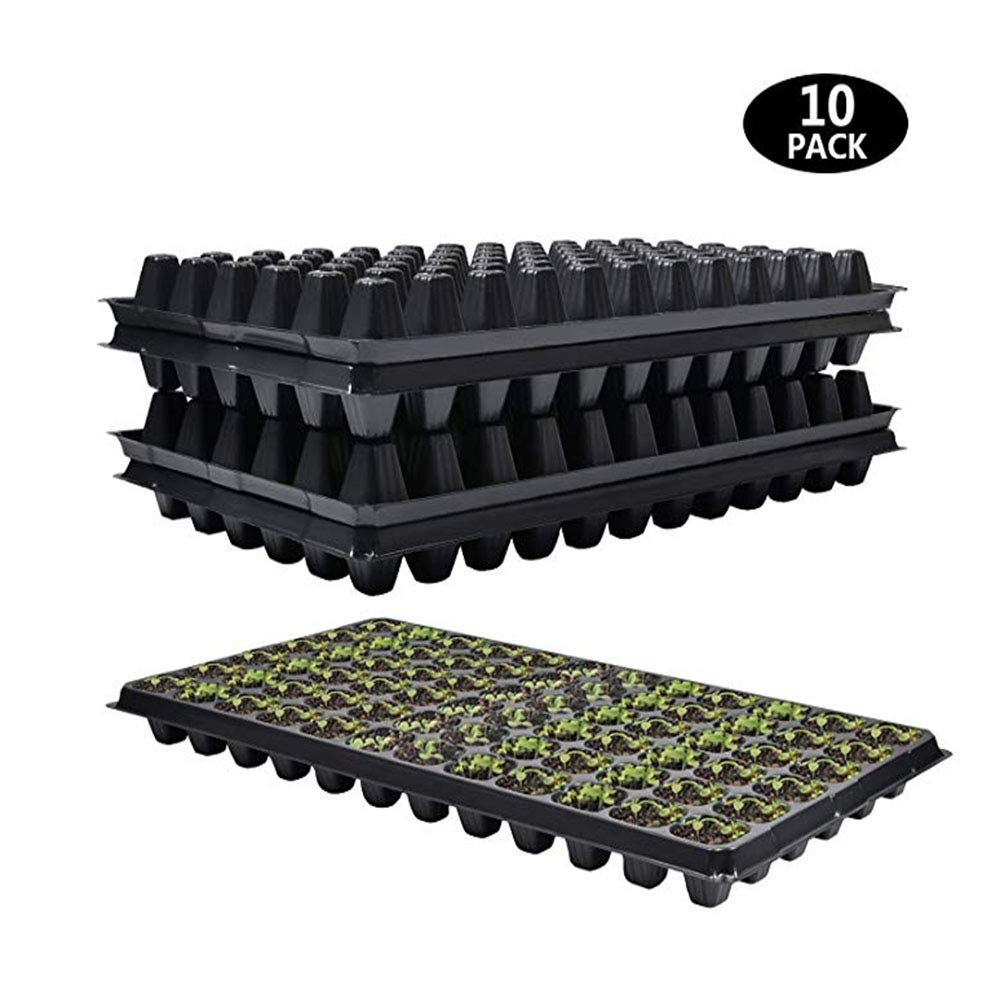 72 Cell Seed Starter Tray - 10 Pack, Extra Strength 1020 Starting Trays for Seed Germination, Plant Propagation, Soil & Hydroponics, Germination Plugs by WainbowA