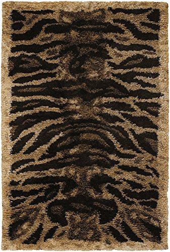 Chandra Rugs Amazon Tan/Gold/Brown/Black 5' x 7'6 Hand-woven Contemporary Rug