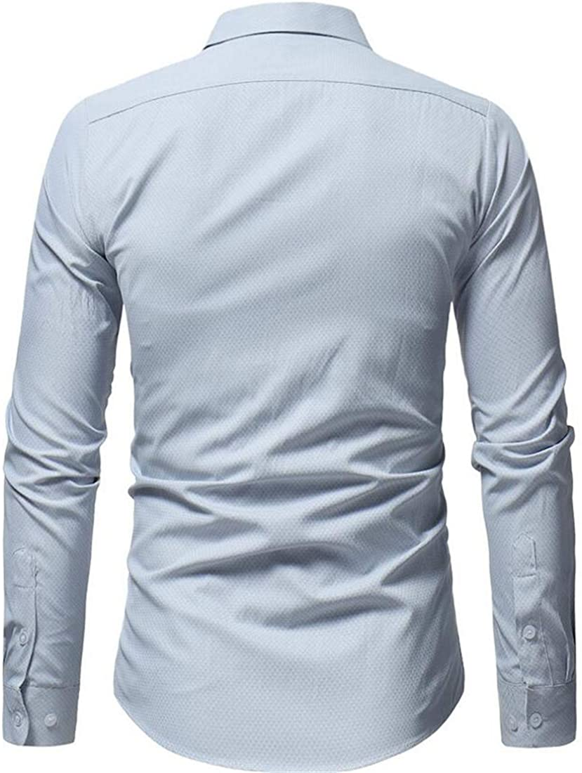 Sweatwater Mens Casual Slim Button-Down Long Sleeve Comfortable Shirts