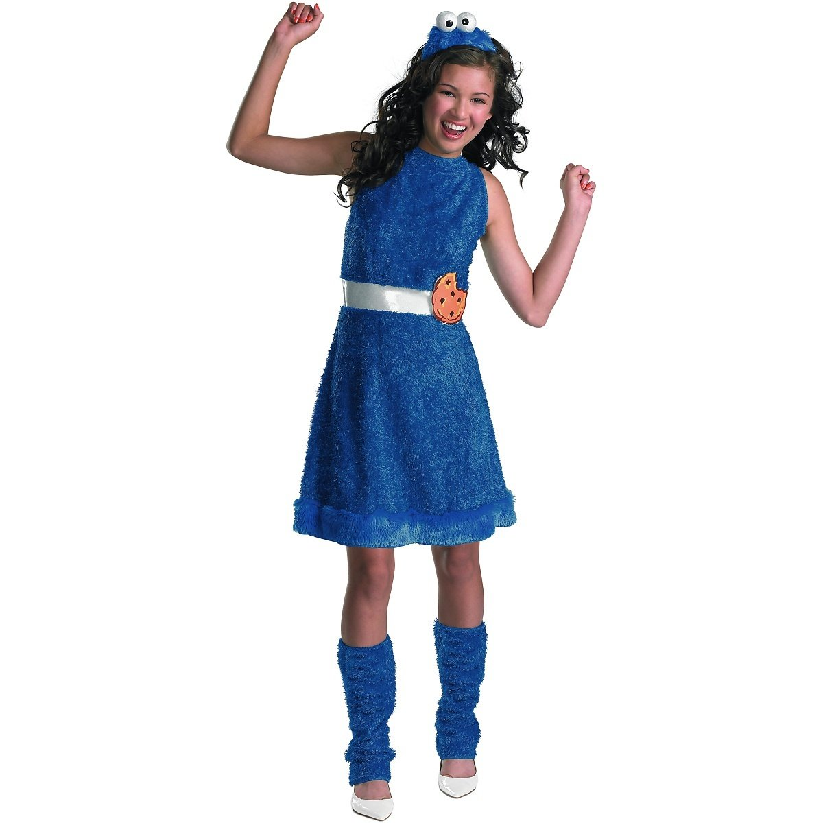 amazoncom sesame street cookie monster teen girls costume x large14 16 toys games - Girls Teen Halloween Costumes