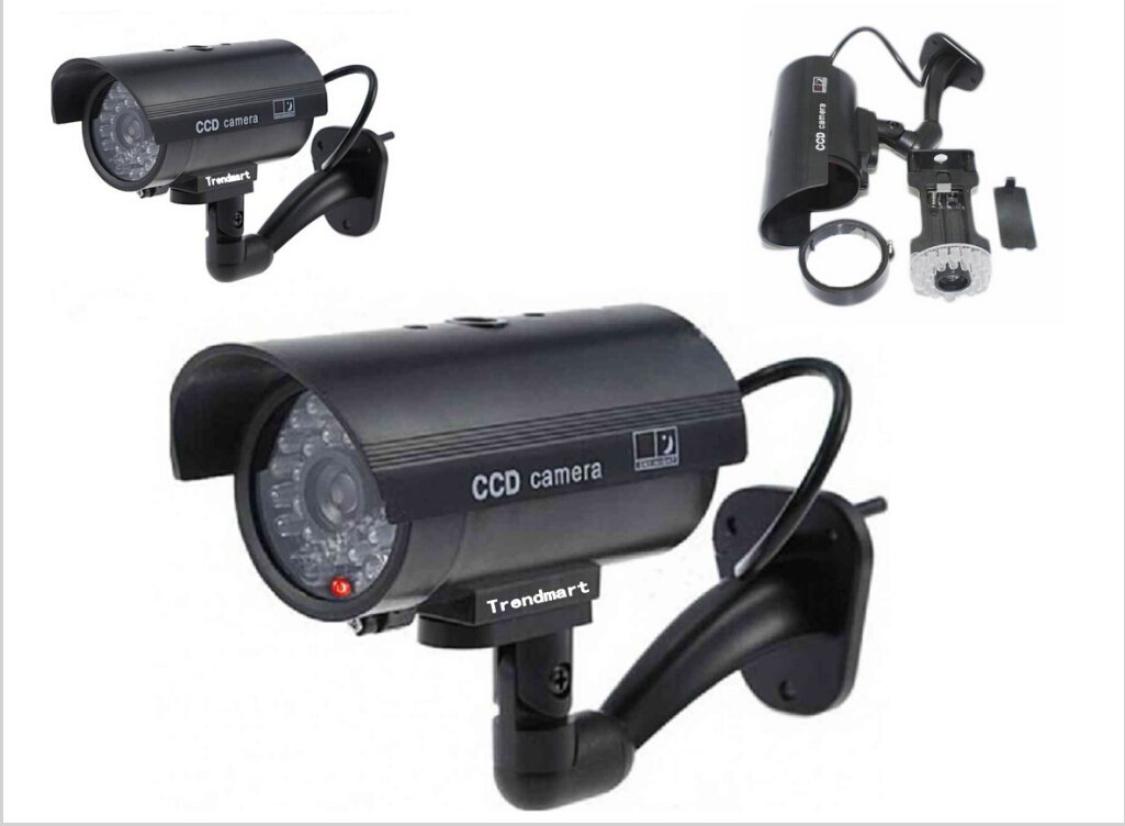Trendmart® 3 Pack Outdoor/indoor Fake Dummy Security Camera Red Blinking Light Led(black) by Trendmart