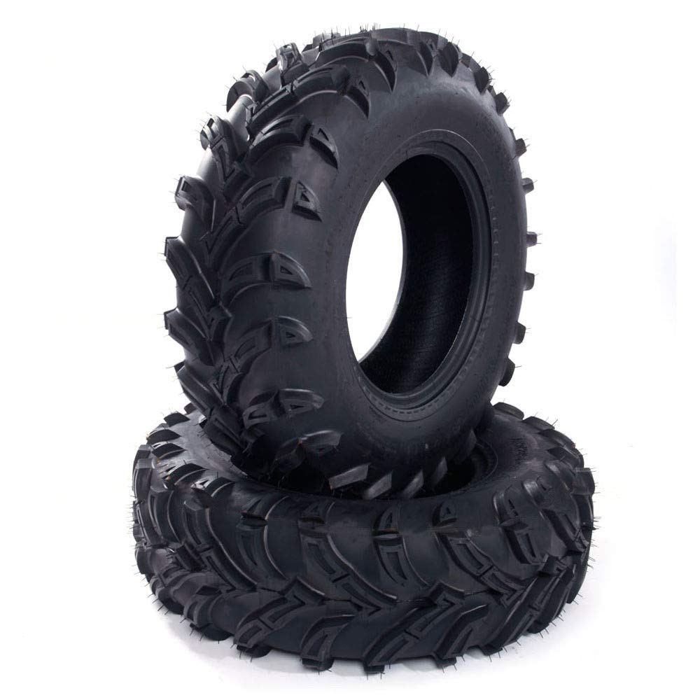 Autoforever Set of 2 26x9-12 ATV/UTV Tires 6PLY All-Terrain Replacement Front Tires Tubeless