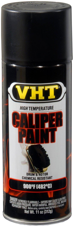 VHT (SP739-6 PK Satin Black High Temperature Brake Caliper Paint - 11 oz. Aerosol, (Case of 6) by VHT