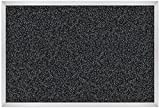 Best-Rite Rubber-Tak Tackboards, Alum Trim, 2 X 3 Feet, Black (321AB-96)