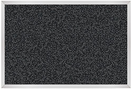 Best-Rite Rubber-Tak Tackboards, Alum Trim, 2 X 3 Feet, Black ()