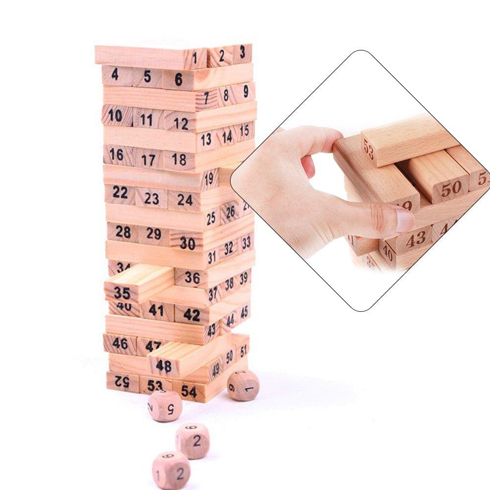 大人気新品 gouptec 54ブロック+ 4 Dices B01IMTMWHE Dices Pinewood子供ゲームFamily Fun教育ゲームfor Kids 54ブロック+ B01IMTMWHE, チヨダチョウ:b8566333 --- dou13magadan.ru