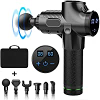 Massage Gun,Deep Tissue Percussion Muscle Massager 30 Speeds, Cordless Handheld Vibration Percussive Therapy Gun with…
