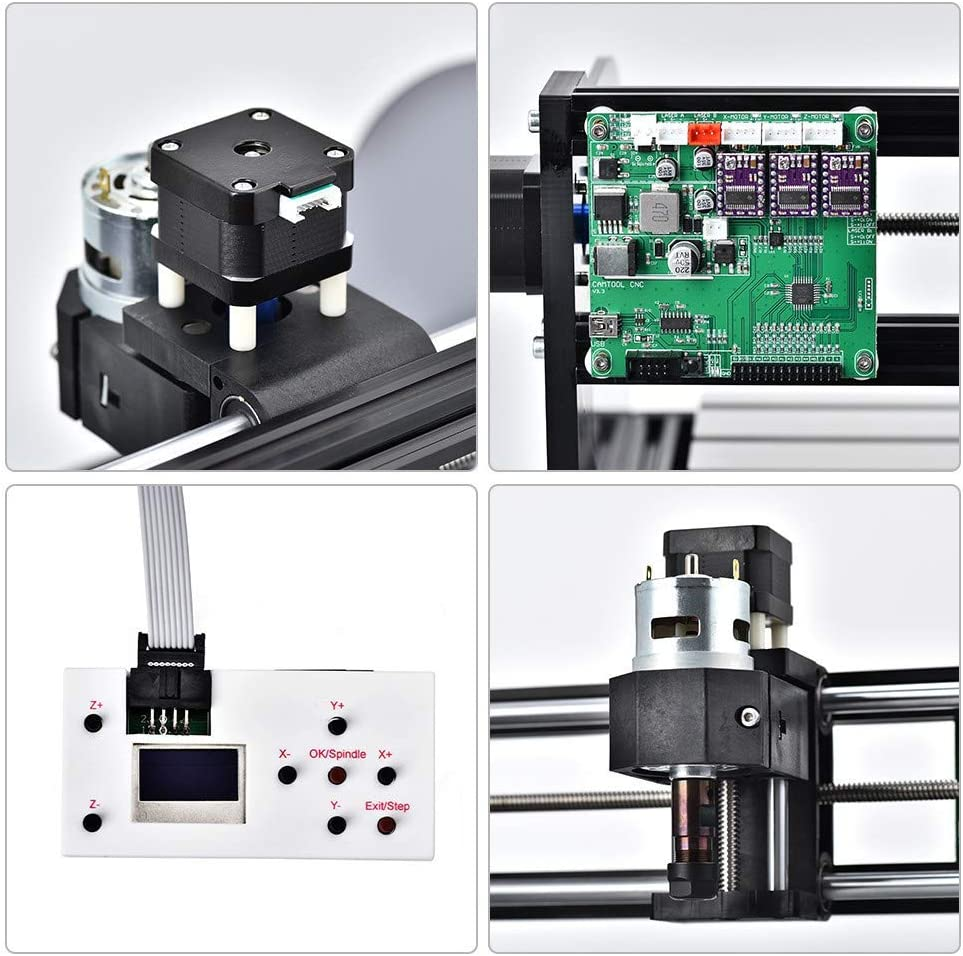 Vogvigo Upgrade Version CNC 3018 Pro Wood Router Kit GRBL Control DIY Mini CNC Máquina Fresadora de PVC de 3 ejes Plástico Acrílico PCB PVC con controlador sin conexión, área de trabajo