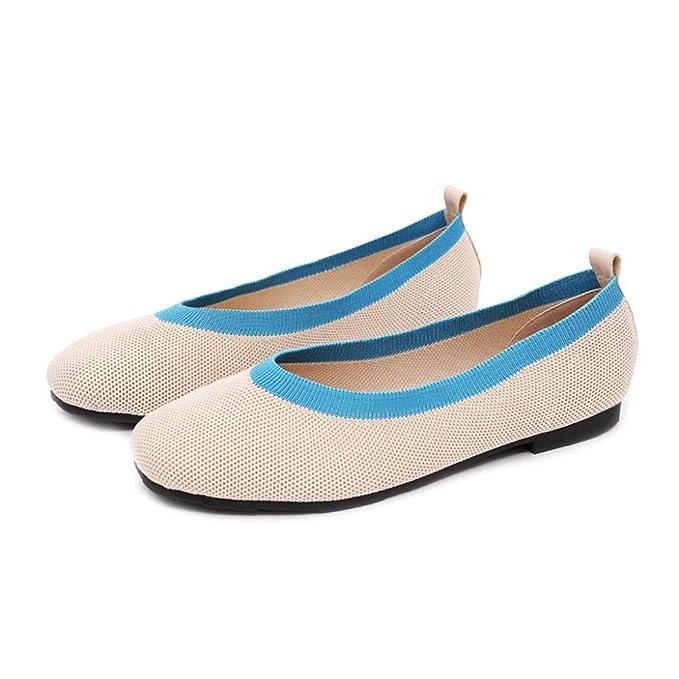 PLNXDM Zapatos De Trabajo Zapatos De Ballet Para Mujer Zapatos Casuales De Trabajo Mocasines Vestido De Dama De Honor Zapatos De Barco: Amazon.es: Ropa y ...