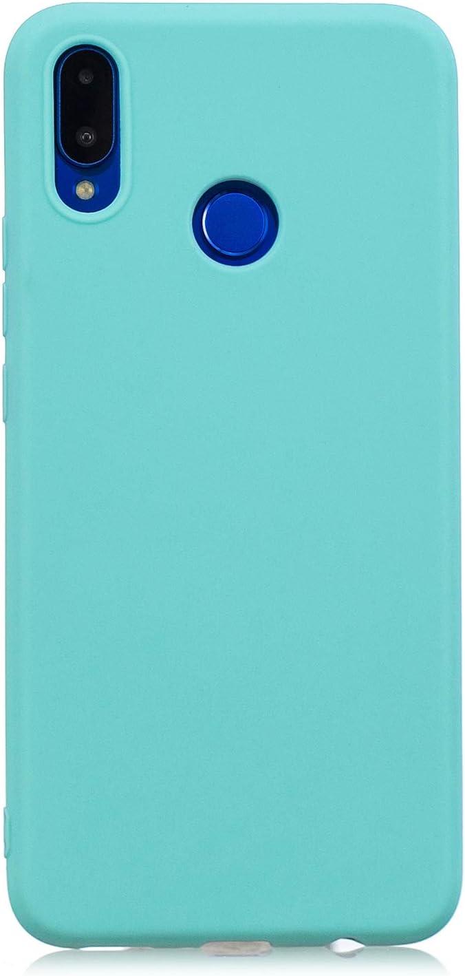 Silicona Gel TPU Case Goma Colores del Caramelo Anti-Rasgu/ño Resistente Ultra Suave Protectora Caso Funda para Huawei P Smart Plus//Nova 3i Carcasa Silicona Huawei P Smart Plus Morado Claro