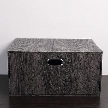 Caja de almacenamiento de cajones de madera negra, cajas de acabado, cajas de almacenamiento juguetes de almacenamiento: Amazon.es: Hogar