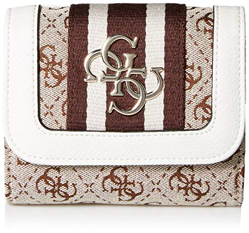 GUESS Vintage Small Trifold Wallet, white