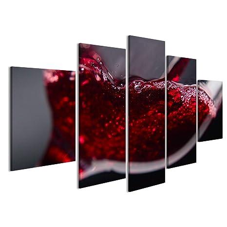 islandburner Quadri Moderni Vino Rosso in Bicchiere di Vino su Sfondo Nero  Stampa su Tela - Quadro Moderno x poltrone Salotto Cucina mobili Ufficio ...