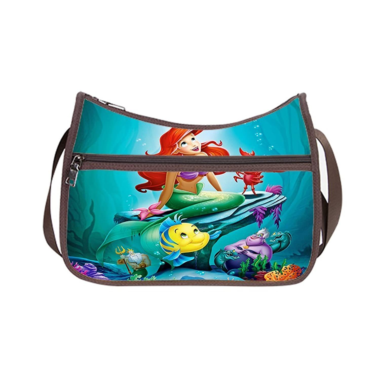 Angelinana Custom Little Mermaid Messenger Bag Shoulder Bag Casual Bags