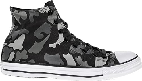Converse Mens Chuck Taylor All Stars Hi Black White Charcoal Camouflage  Size  Mens 3 Womens 5  Amazon.co.uk  Shoes   Bags f258e0b03