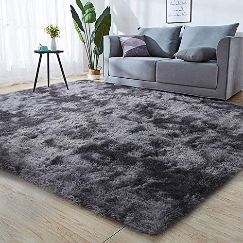 Leesentec Area Rug Super Soft Indoor Modern Shag Area Silky Smooth Fur Rugs Fluffy Anti-Skid Rugs Shaggy Bedroom Carpet Floor 3.9'x6.6' 120x200cm