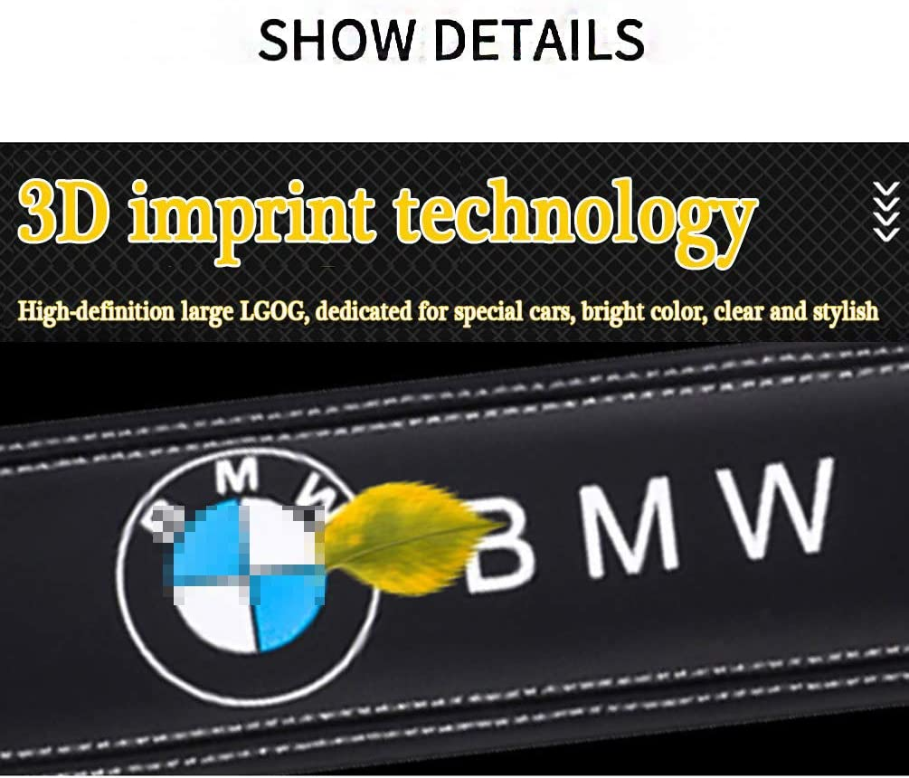 Stickerei Mit Car Logo Sicherheitsgurt B/ügel Schutz Schulterpolster f/ür BMW Innen Styling Zubeh/ör Aieryu 2PCS Auto Gurtpolster