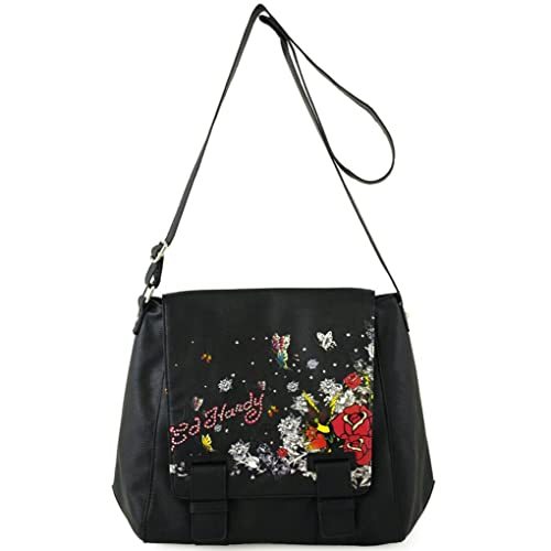 d935b7f675 Image Unavailable. Image not available for. Color  Ed Hardy Garden Party  Petra Crossbody Bag ...