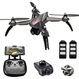 GPS RC Drone with Camera 1080P HD Live Video,Auto Return Home, MJX Bugs 5W B5W FPV Quadcopter Adjustable Camera WIFI , Follow Me, Altitude Hold, Long Control Distance, Brushless Motor - Gray