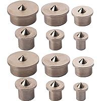 CESFONJER Houtplug-centreerpunten | pluggenmarkerers | pluggenpunten, 12-delig Set van 2 stuks 4/5/6/8/10/12 mm