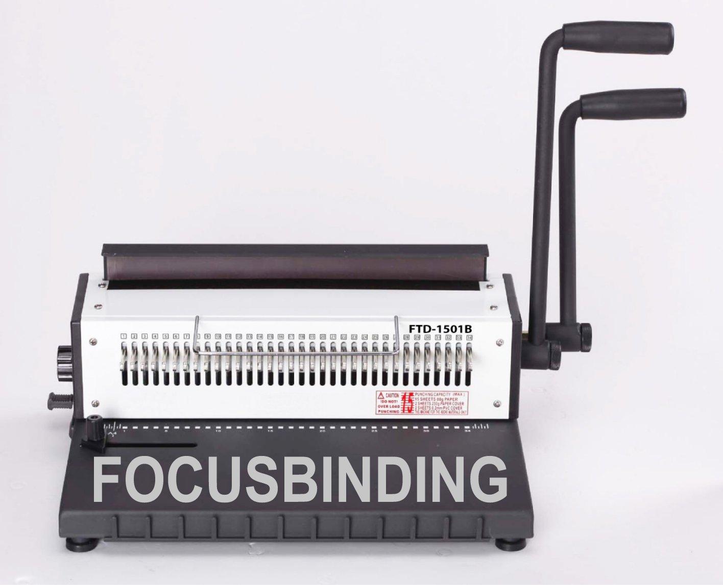 Heavy Duty Manual Wire Binding Machine Double-O Binder,Move Pin,3:1 EZtransfer