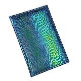 Wffo Lizard Passport Holder Protector Wallet Business Card Soft Passport Cover (Blue)