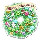 Carol Wilson Fine Arts Inc. - Christmas Wreath - Christmas Cards- Boxed - 120 count- crgbx189x12