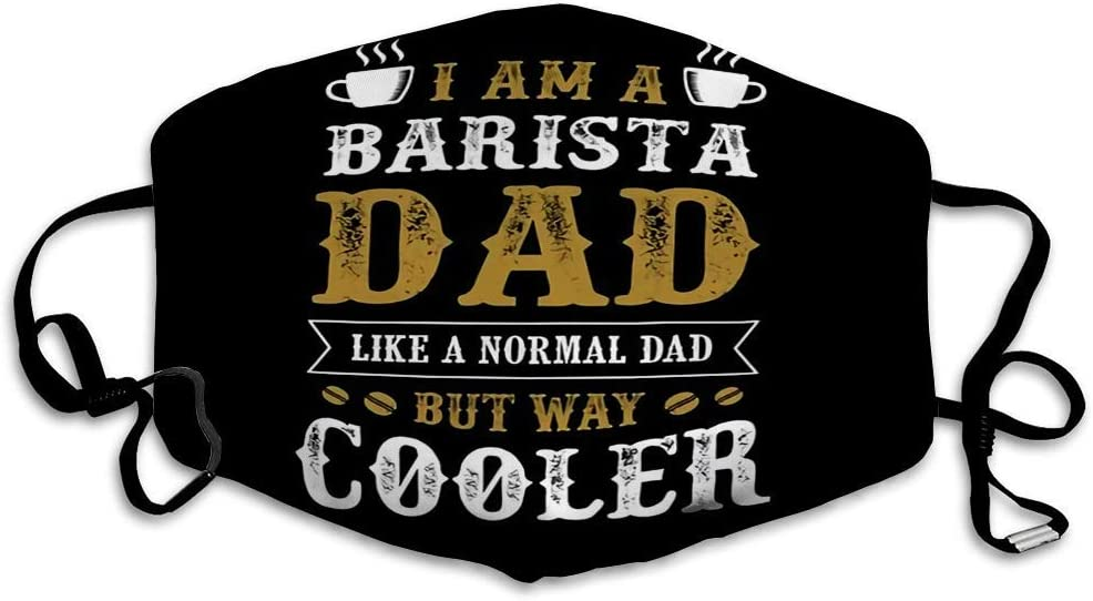 "Maske mit ""I'm-A-Barista-Dad""-Spruch"