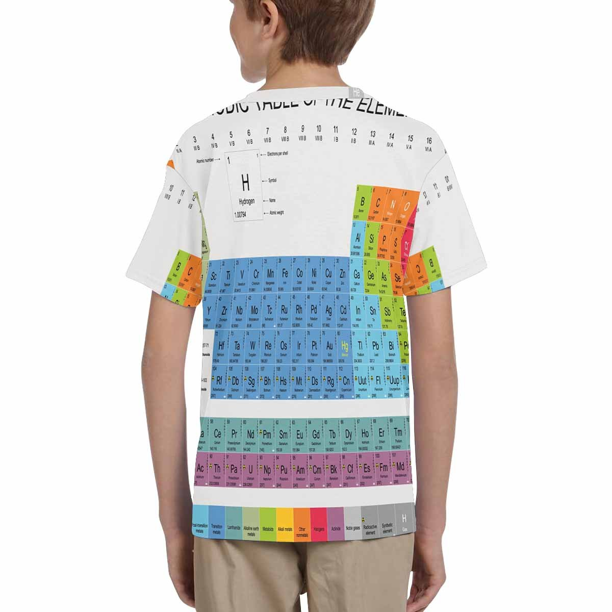 XS-XL INTERESTPRINT Childs T-Shirt Periodic Table of The Elements