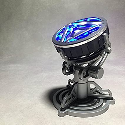 Metal 1/1 LED Remote Control Arc Reactor For Iron Man MK XLII 42 Cosplay