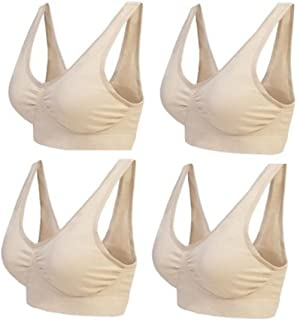 5ed2479ea7754 Marielle 4 Pack Bra® The Ultimate Comfort Bra Padded (Inc 8 x Pads) Premium  Quality Material…