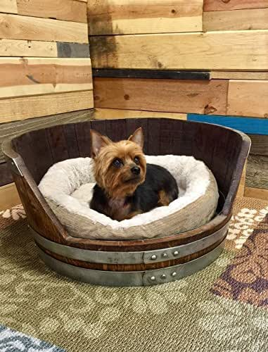 Amazon.com: Wine Barrel Dog Bed, Medium Personalized Pet