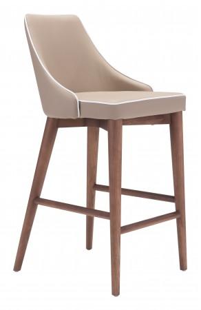 Zuo Modern Moor Chair Beige Counter Chair | Goedeker's