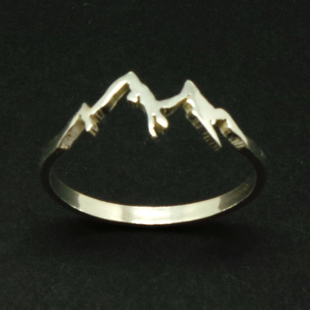 Handmade 925 Sterling Silver Mountain Range Ring