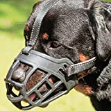 Dog Muzzle,Soft Basket Silicone Muzzles for Dog, Best to Prevent Biting, Chewing and Barking, Allows Drinking and Panting, Used with Collar (3 (Snout 10-12