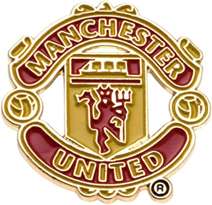Amazon Com Manchester United Big Crest Pin Badge Multi Colour Sports Outdoors