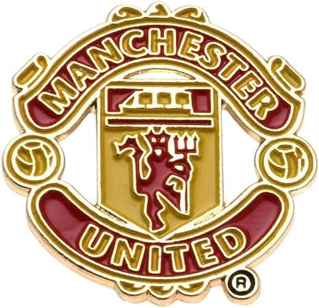 Amazon Com Manchester United Big Crest Pin Badge Multi Colour Sports Outdoors