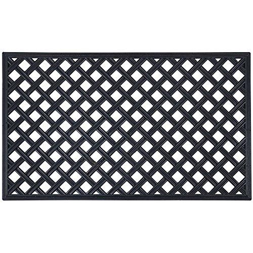 Achim Home Furnishings WRM1830LT6 Lattice Rubber Mat, 18