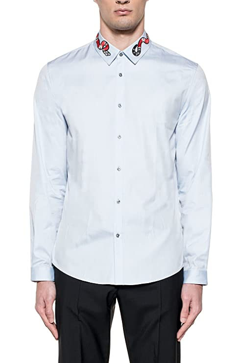 9451526c Gucci Men's 433550Z38984850 Light Blue Cotton Shirt: Amazon.ca: Sports &  Outdoors